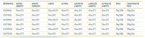 Características Silla de Ruedas Aluminio XS2