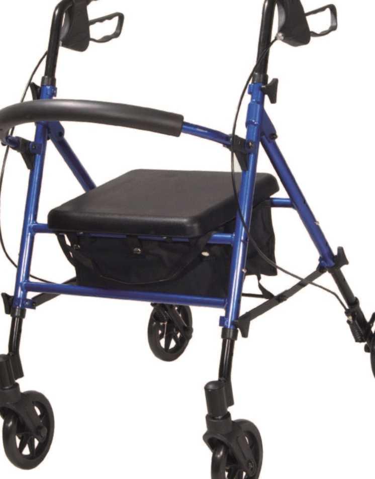 Andador con ruedas cesta y asiento para ANCIANOS - Cómodo y Seguro