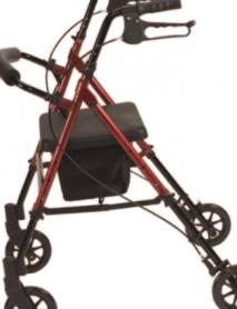 Rollator-con-Asiento-Ajustable-Rojo