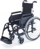 Silla de ruedas aluminio para personas mayores Respaldo Partido Rueda Grande