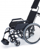 Silla de ruedas aluminio para personas mayores Respaldo Reclinable Rueda Grande