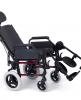 Silla de ruedas aluminio para personas mayores Respaldo Reclinable Rueda Grande Roja