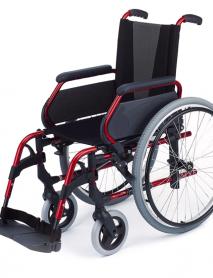 Silla-de-ruedas-aluminio-para-personas-mayores-Rueda-Grande-Roja