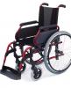 Silla de ruedas aluminio para personas mayores Rueda Grande Roja