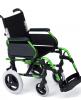 Silla de ruedas aluminio para personas mayores Rueda Pequeña Verde