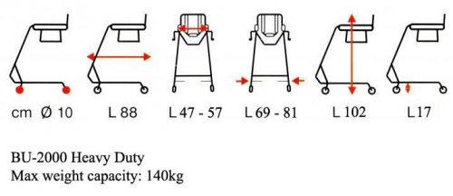 Grúa Silla Móvil  BODY UP Evolution BU1000 Traslado de Enfermos en Casa y Exterior