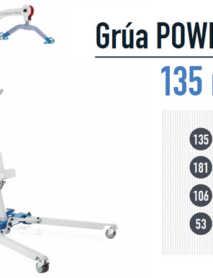 Grúa Eléctrica para Mover Enfermos POWERLIFT 135 MINI
