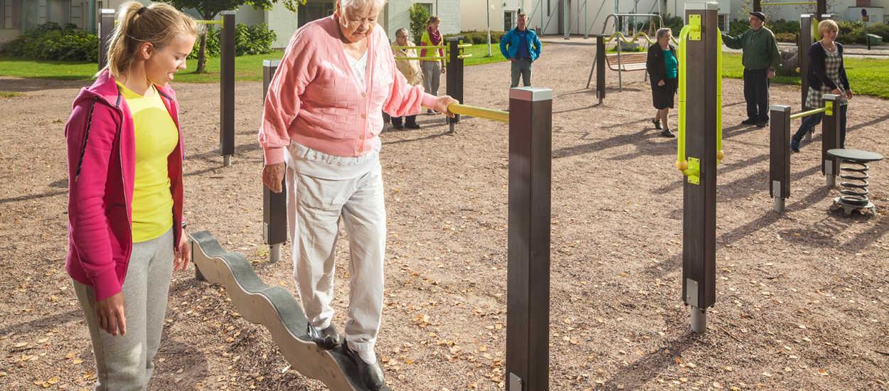 Parque para personas mayores