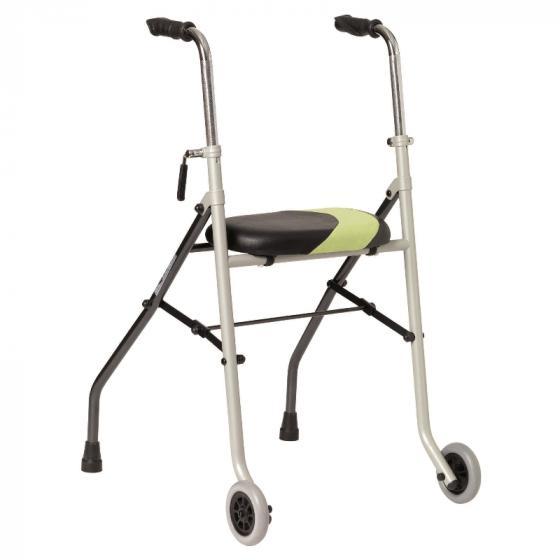 Rollator de 2 ruedas y asiento para ADULTOS ACTIO2