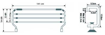 Barandillas PLEGABLES para Camas Pintadas 3 o 4 barras