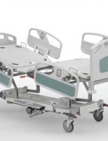 Camas Hospitalarias GRADUABLES EN ALTURA Manual con ruedas y barrreras protectoras EVOQUE
