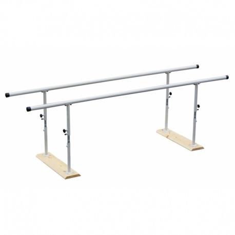 Barras Paralelas para Rehabilitación PLEGABLES de 3 metros con ANCHO ESPECIAL para Silla de Ruedas
