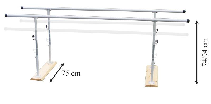 Paralelas para ADULTOS de Rehabilitación Regulables en altura 3 metros