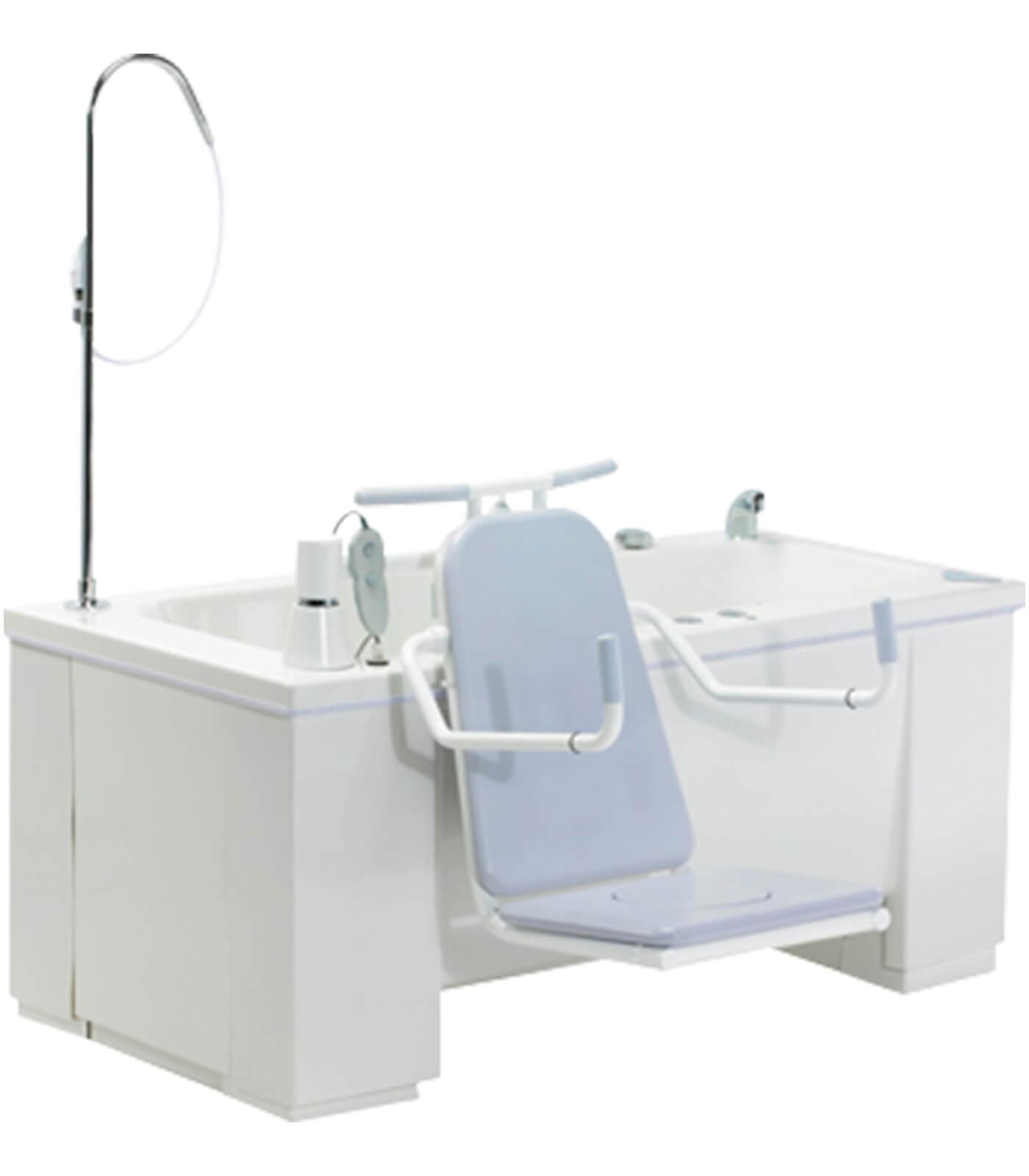 Bañeras con Grúas (Asientos) de acceso y salida para Discapacitados y Personas Mayores