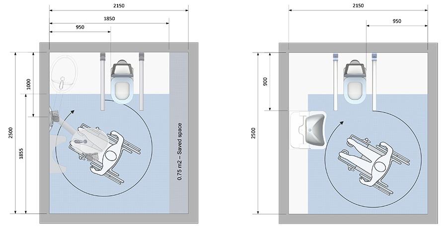Lavabos Swingline- Mississippi para Discapacitados en Sillas de Ruedas