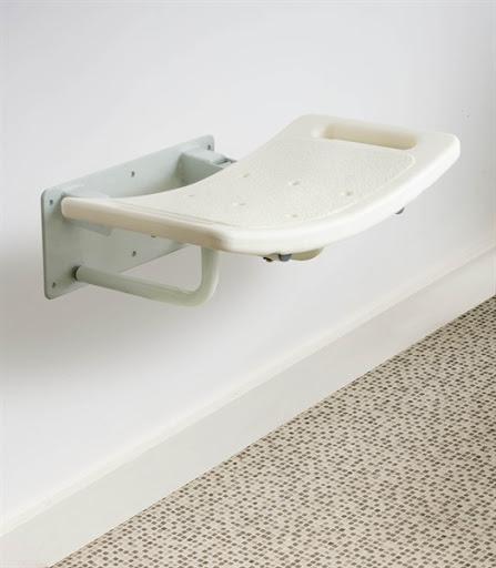 asientos de ducha a pared