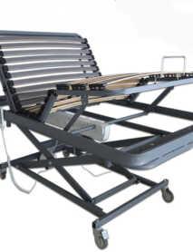 cama articulada con carro elevador en tijera
